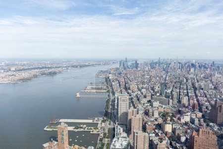 Photo for Aerial view of new york buildings and atlantic ocean, usa - Royalty Free Image