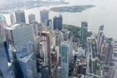 """Постер, картина, фотообои """"Аэрофотоснимок небоскребов Нью-Йорка, США"""""""