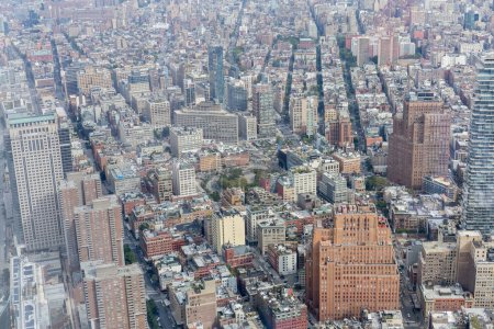 Photo for Aerial view of new york city skyscrapers, usa - Royalty Free Image