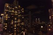 """Постер, картина, фотообои """"Городские сцены города Нью-Йорка в ночное время, США"""""""