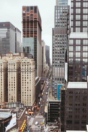Photo pour NEW YORK, États-Unis - 8 OCTOBRE 2018 : scène urbaine avec rue de New York, États-Unis - image libre de droit