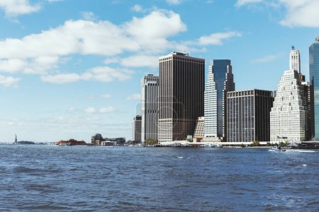 Foto de Manhattan, Nueva York, Estados Unidos - 08 de octubre de 2018: hermosa vista de manhattan y Atlántico océano, nueva york, Estados Unidos - Imagen libre de derechos