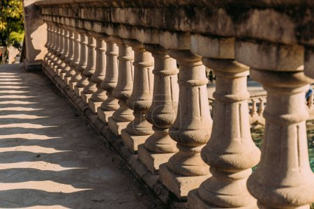 selective focus of balustrade in