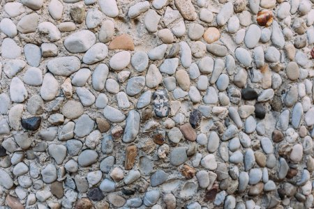 multicolored handwork textured stone wall