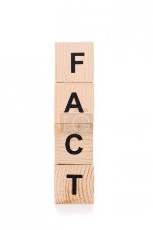 Photo pour Lettrage noir fait de blocs de bois isolés sur blanc - image libre de droit