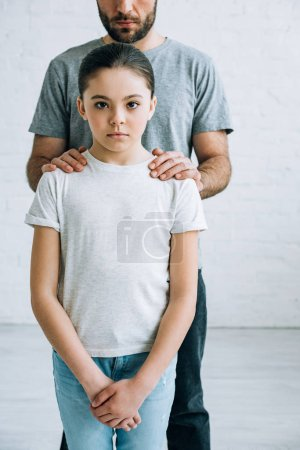 Photo for Partial view of father and daughter having conflict - Royalty Free Image