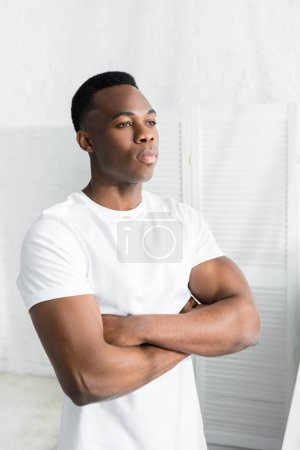 Photo for Confident african american man crossed arms on his chest and looking away - Royalty Free Image