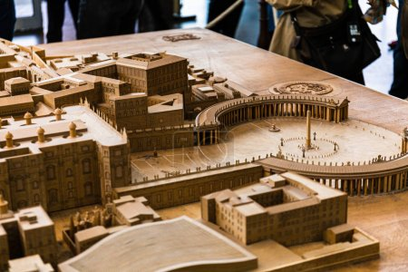 Photo for ROME, ITALY - JUNE 28, 2019: maquette of ancient Rome in Vatican Museum - Royalty Free Image