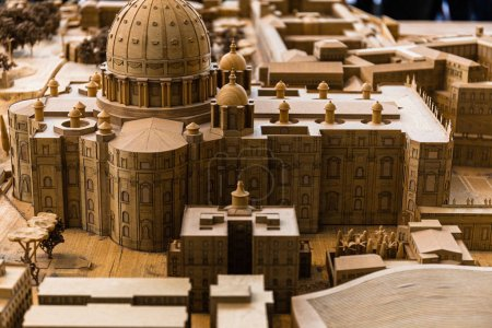 ROME, ITALY - JUNE 28, 2019: maquette of ancient Rome in Vatican Museum