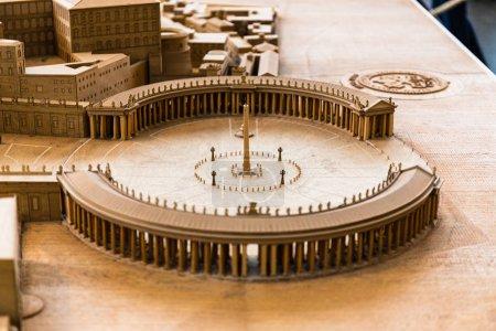 Foto de Roma, Italia - 28 de junio de 2019: maqueta de la antigua Roma en el Museo Vaticano - Imagen libre de derechos