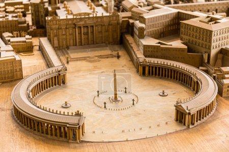 Photo pour Rome, Italie - 28 juin 2019: maquette de la Rome antique au Musée du Vatican - image libre de droit