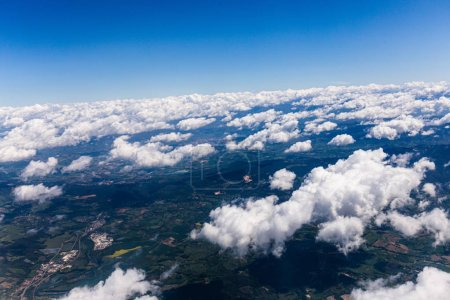 Photo for Aerial view of land under white clouds in rome, italy - Royalty Free Image