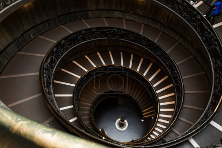 Photo for ROME, ITALY - JUNE 28, 2019: old spiraling Bramante Staircase in vatican museums - Royalty Free Image