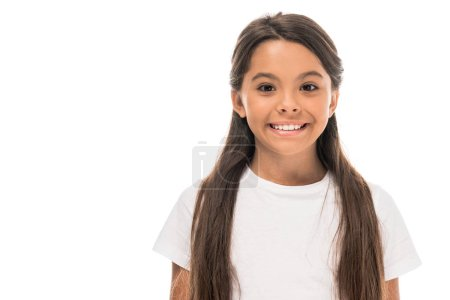 Photo for Happy and cute kid smiling isolated on white - Royalty Free Image