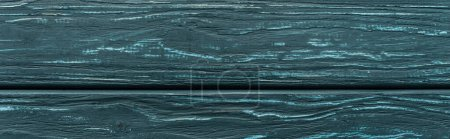 Photo for Top view of wooden green background with copy space, panoramic shot - Royalty Free Image