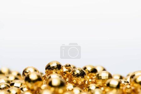 Photo for Golden Christmas decoration isolated on white background - Royalty Free Image