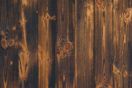 full frame image of brown rustic wooden planks background