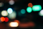close up view of colorful bokeh lights as background
