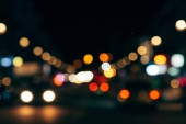 """Постер, картина, фотообои """"Боке красочные огни ночного города как фон"""""""