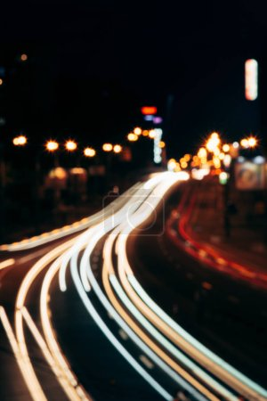 Photo for Blurred view of night city street and city lights - Royalty Free Image