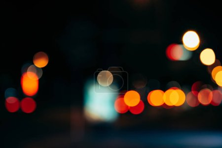 Photo for Night city lights in bokeh style background - Royalty Free Image