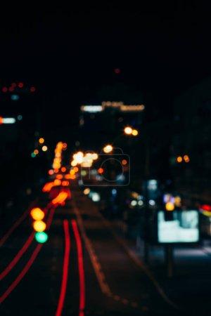 Photo pour Veilleuses de la ville en arrière-plan de style bokeh - image libre de droit