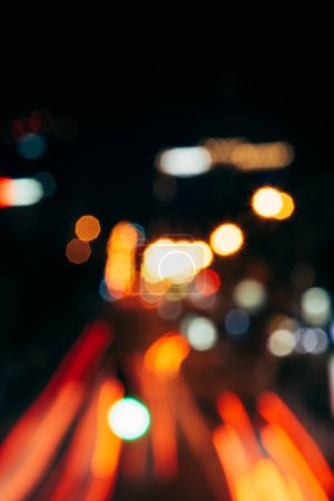 night city lights in bokeh style background