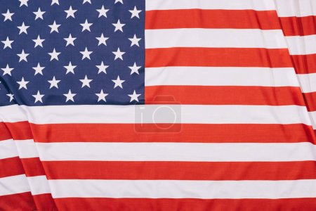top view of folded american flag background