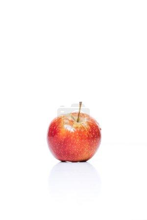 Photo pour Bouchent la vue des pommes fraîches isolé sur blanc - image libre de droit