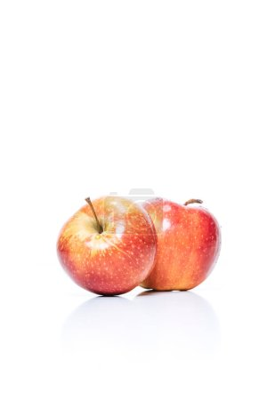 Photo for Close up view of ripe apples isolated on white - Royalty Free Image