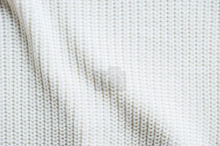 Photo for Full frame image of white woolen fabric background - Royalty Free Image