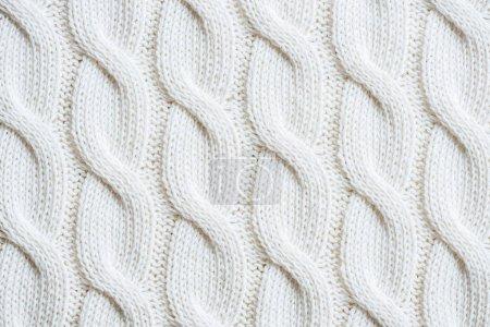 full frame image of white woolen fabric background