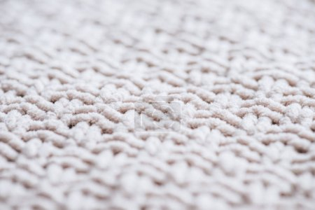 selective focus of woolen fabric background