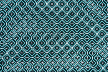 Photo for Full frame image of textile fabric with abstract pattern background - Royalty Free Image
