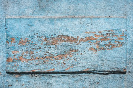 top view of aged blue weathered wooden background