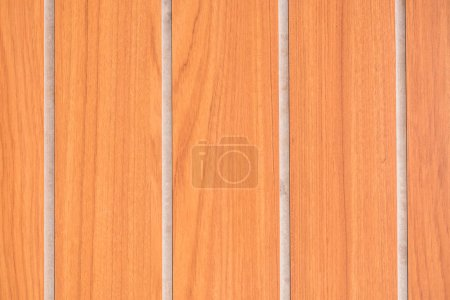 top view of bright brown wooden background with planks
