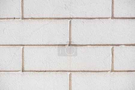 close-up view of white brick wall background