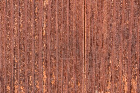 close-up view of bright brown aged wooden background