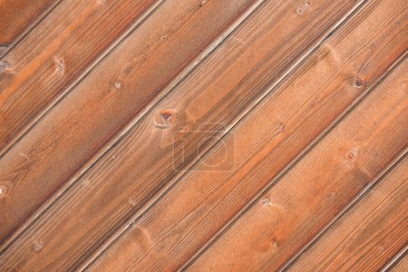 close-up view of brown wooden background with hardwood planks