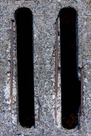 vue de dessus de la surface de béton gris en toile de fond