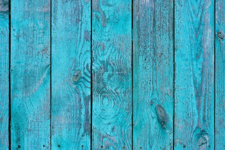 full frame of blue wooden planks as backdrop