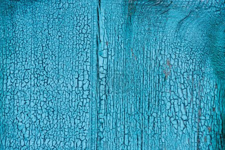 full frame of grungy blue wooden texture as background