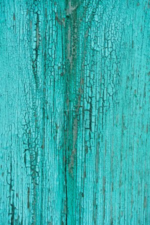 Photo for Full frame of grungy turquoise wooden texture as background - Royalty Free Image