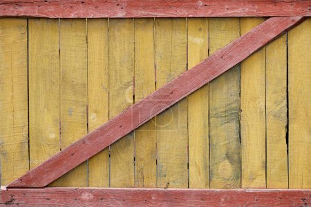 full frame of colorful wooden fence as background