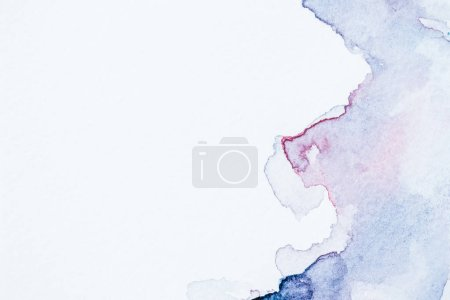 Photo for Creative background with blue and purple watercolor blots on white paper - Royalty Free Image
