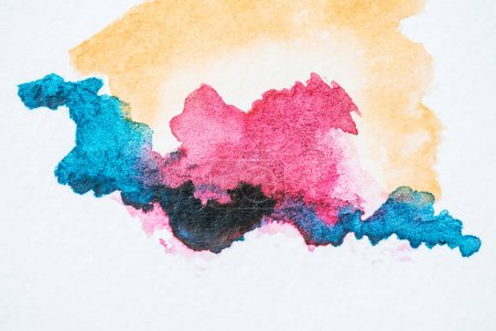 abstract background with colorful watercolor blots