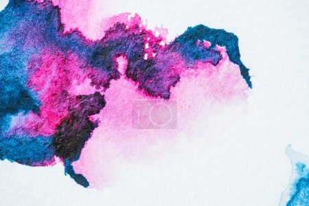 abstract background with pink and purple watercolor blots