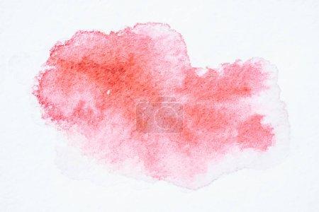 Photo pour Peinture abstraite aquarelle rose sur fond papier blanc - image libre de droit