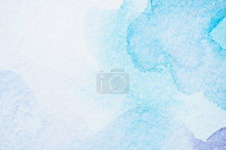 Photo pour Abstrait lumière aquarelle fond bleu - image libre de droit