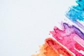 """Постер, картина, фотообои """"Художественный красочные акварель штрихи на фоне белой книги"""""""